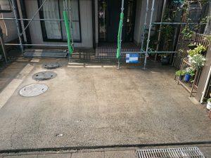 施工前の駐車場
