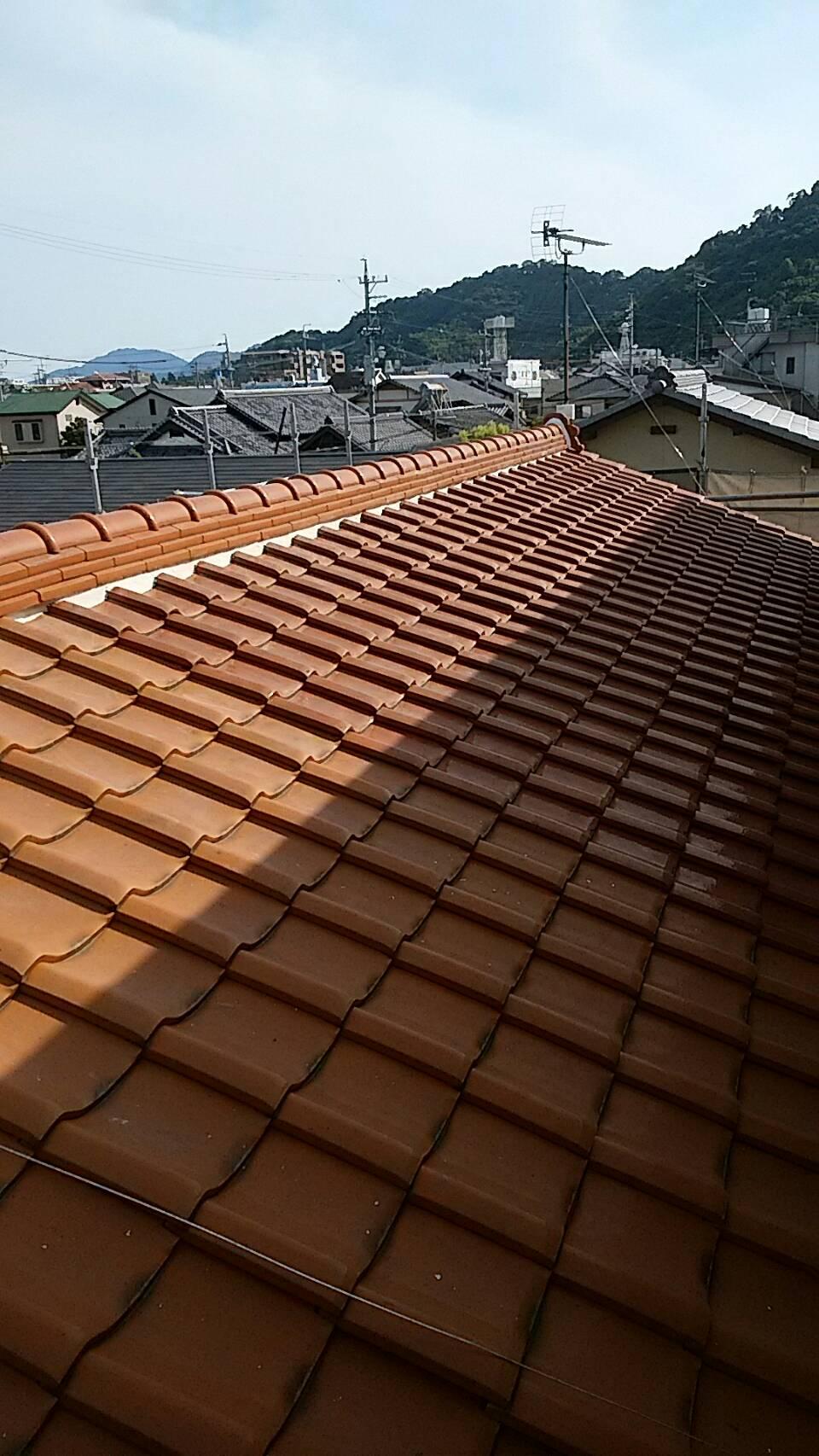 屋根漆喰補修工事(静岡市葵区K様邸)