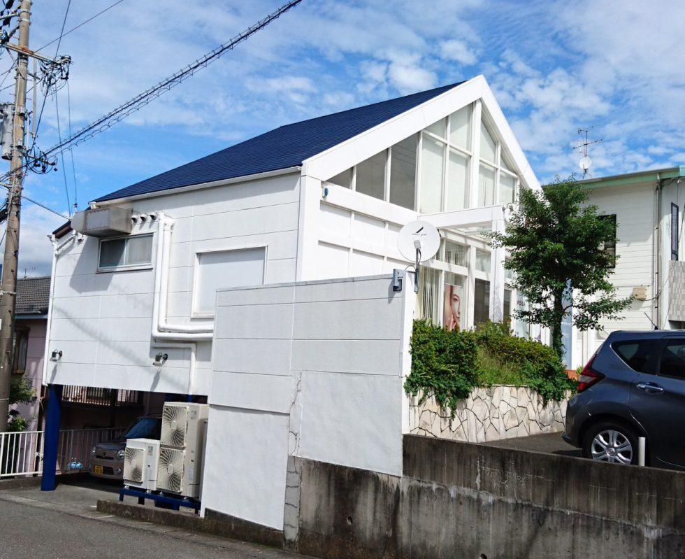 屋根・鉄骨塗装(静岡市清水区ポーラザビューティー草薙店様邸)