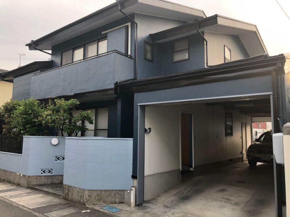 屋根、外壁塗装工事(静岡市葵区新伝馬S様邸)