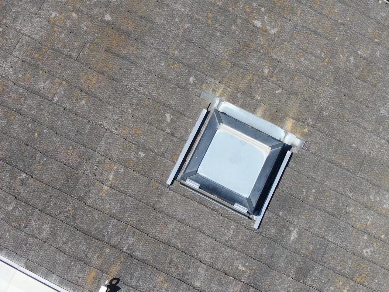 ドローン診断 で撮影した屋根のアップ