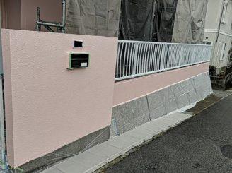 塀 施工後