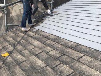施工中 屋根